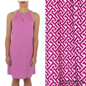 Jude Connally Pink Fuschia Printed Lisa Dress